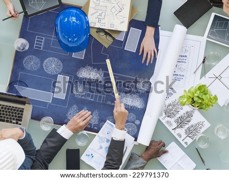 Group of Architects Planning - stock photo