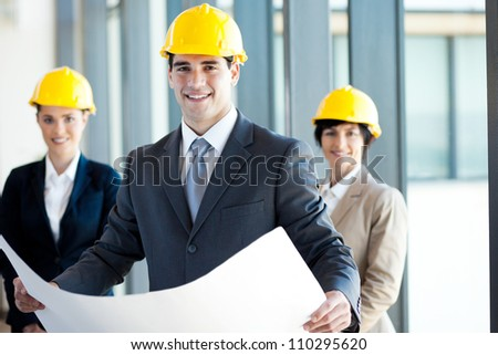 group of architects portrait - stock photo