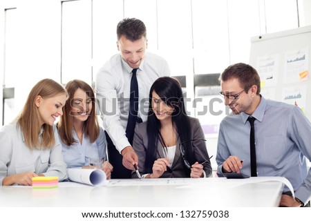 Group of architects working at office. - stock photo