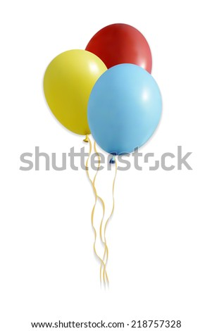 Group of  balloons. Illustration. Isolated on white