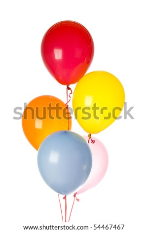 Group of balloons isolated on white