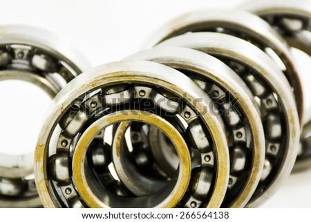 Group of bearings isolated on white background. - stock photo