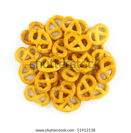 Group of bite sized pretzels