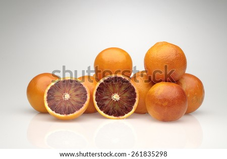 group of blood oranges - stock photo