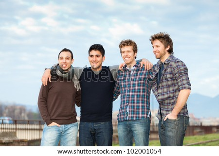 Group of Boys Outside