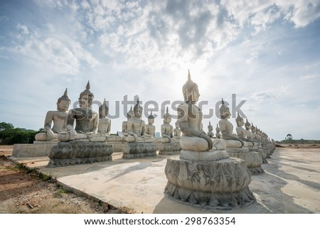 Group of  Buddha statue , in southern of Thailand. - stock photo