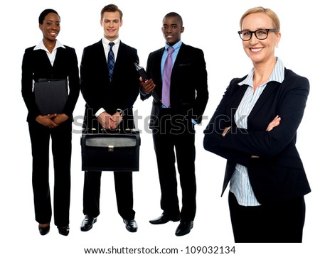 Group of business people. Business team isolated over white background