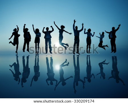Group of Business People Celebrating Cheerful Concept - stock photo