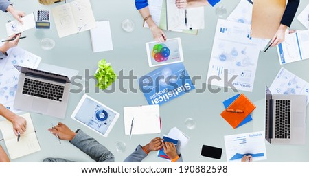 Group of Business People Dicussing Business Issues - stock photo