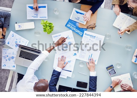 Group of Business People in a Meeting - stock photo
