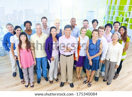 Group of Business People in Casual Office Environment - stock photo