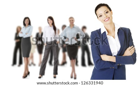 Group of business people  in elegant clothes
