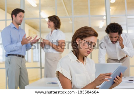 Group of business people in meeting at the office