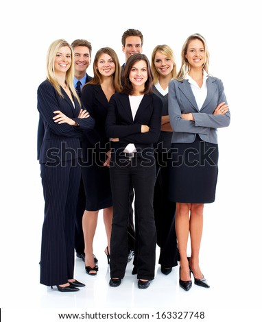 Group of business people Isolated over white background. - stock photo