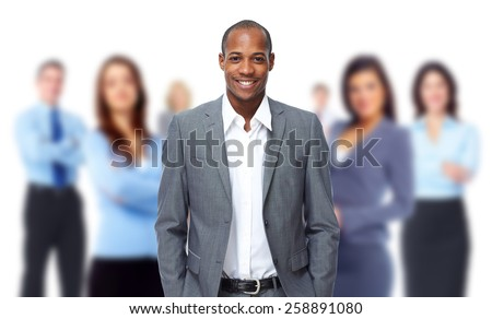 Group of business people isolated white background. - stock photo