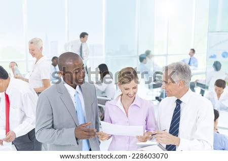Group of Business People Meeting - stock photo