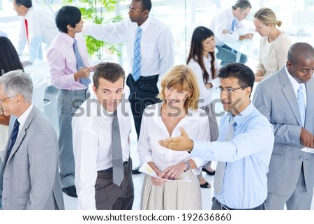 Group of Business People Meeting in the Office. - stock photo