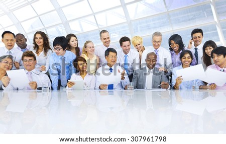Group of Business People Meeting Teamwork Concept - stock photo