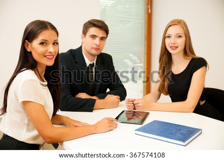 Group of Business people searching for solution with brainstorming - Team work - stock photo