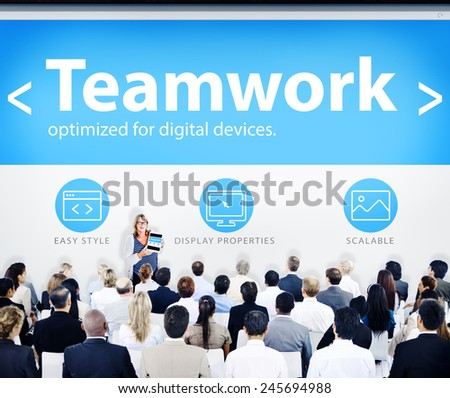 Group of Business People Seminar Teamwork Concept - stock photo