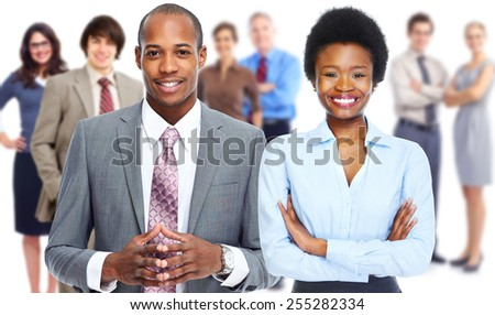Group of business people team. Isolated white background. - stock photo