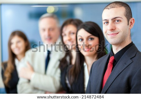 Group of business people, teamwork concept  - stock photo