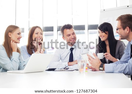 Group of business people working - stock photo