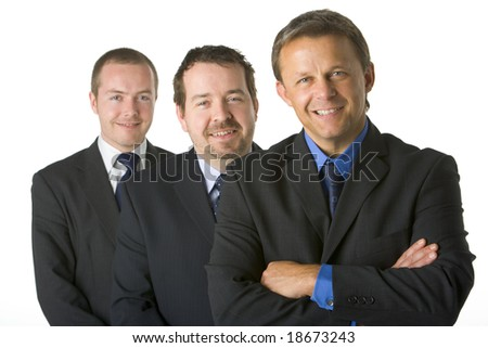 Group Of Businessmen Smiling - stock photo