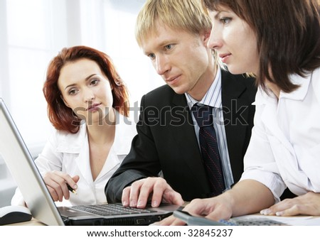 Group of businesspeople at a meeting