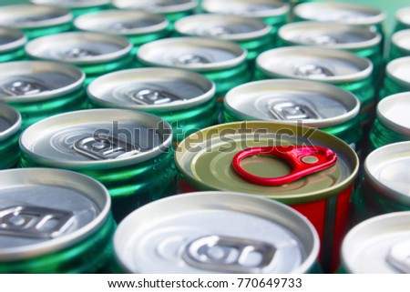 Group of cans are the same,but there are 1 differrenecans,The leader concept.