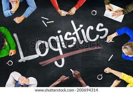 Group of Casual People Discussing about Logistic - stock photo