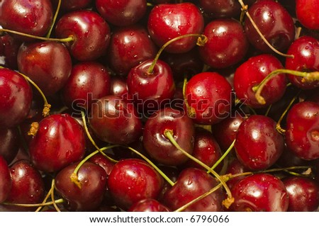 Group of Cherries forming a texture