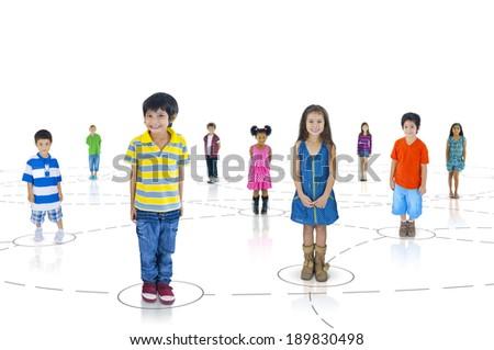 Group of Children - stock photo