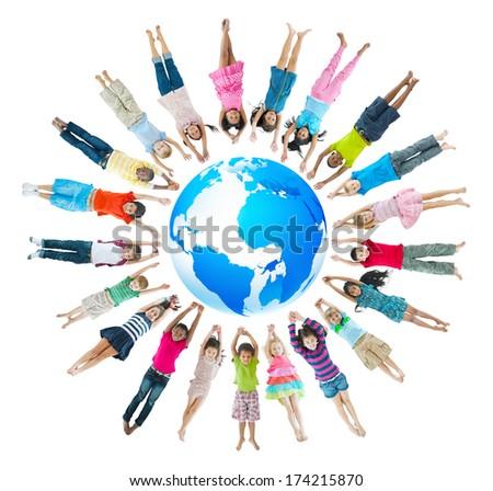 Group of Children Around the World - stock photo