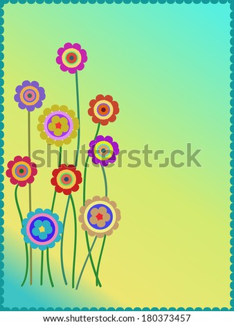 group of colorful flowers background