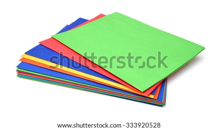 Group Of Colorful Folders Isolated On White With Copy Space - stock photo