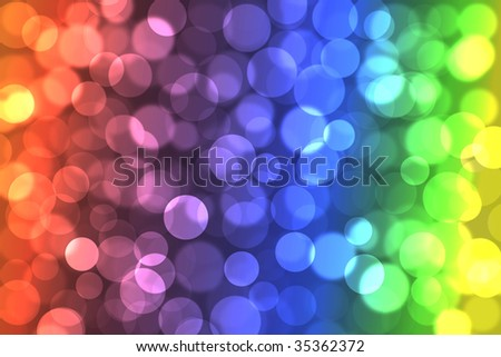 Group of colour circles. Effect of light