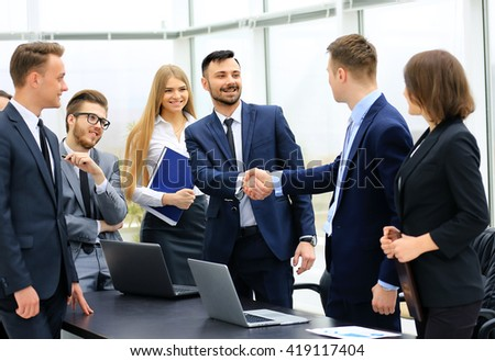 Group of confident business people - stock photo