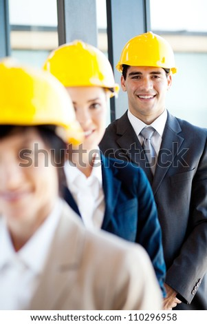 group of construction manager portrait - stock photo