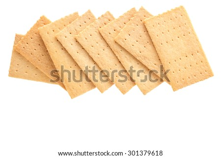 Group of cracker isolated on white background,clipping path.