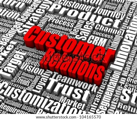 Group of customer relations related words. Part of a business concept series. - stock photo