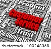 Group of customer service related words. Part of a business concept series. - stock vector