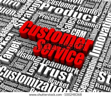 Group of customer service related words. Part of a business concept series. - stock photo