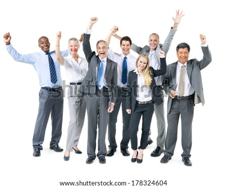 Group of Diverse Business People Celebrating - stock photo