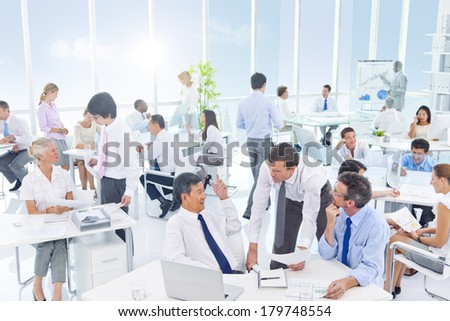 Group of Diverse Business People Meeting in the Office - stock photo