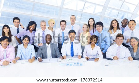 Group of Diverse Business People Working Together