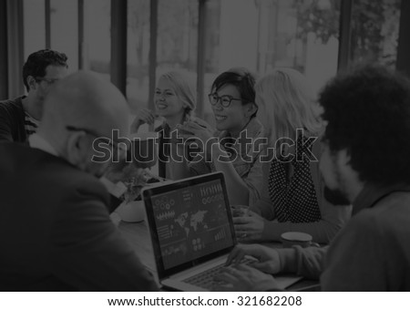 Group of Diverse Cheerful Business People Concept - stock photo