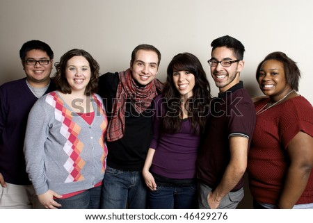 Group of Diverse Friends Smiling