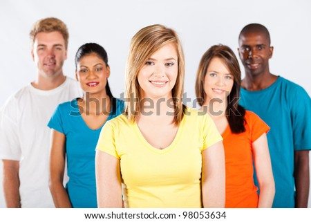 group of diverse people portrait - stock photo
