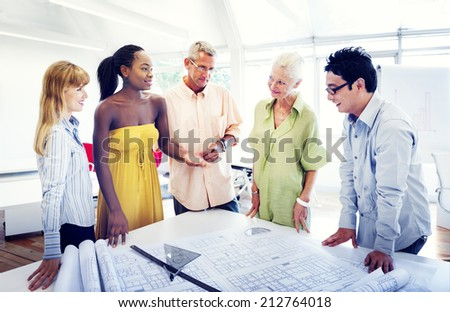 Group of Diverse People Working in the Office  - stock photo